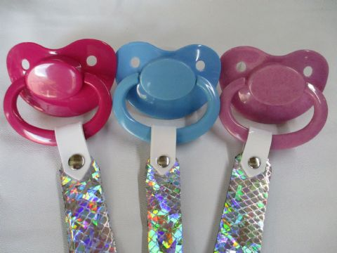 Unicorn Paci Holder Clip Strap & Large Shield Paci